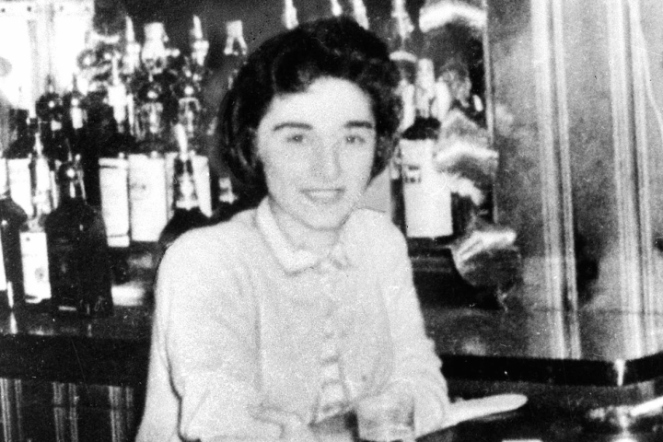 "Catherine ""Kitty"" Genovese, a bar manager, was stabbed to death in March 1964 as she returned home to the Kew Gardens section of Queens."